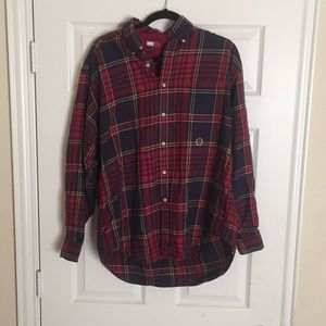 TOMMY HILFIGER *VNTG button-down red and blue M
